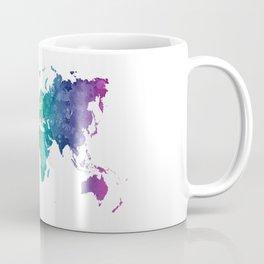 World map in watercolor rainbow Coffee Mug