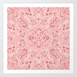 Pink Paisley Bandana Art Print