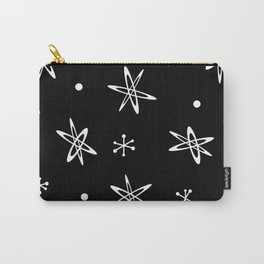 Atomic Era Space Age Black Carry-All Pouch