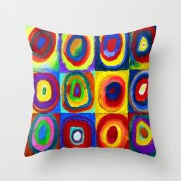 Wassily Kandinsky Color Study Throw Pillow