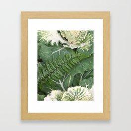 Fern on Cabbage Framed Art Print