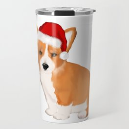 Christmas Santa corgi dog tshirt  Travel Mug
