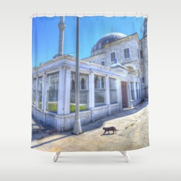 Istanbul Mosque Cat Shower Curtain