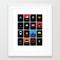 movie posters Framed Art Prints featuring Cute Classic Movie Posters by Movie Cuties