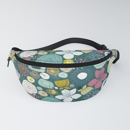 oriental blooms peacock Fanny Pack
