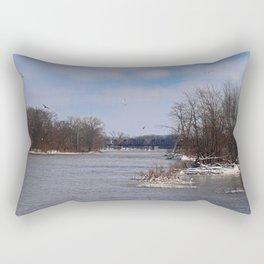 Cold Convergence Rectangular Pillow
