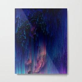 Glitch of Fantasy - Abstract Pixel Art Metal Print