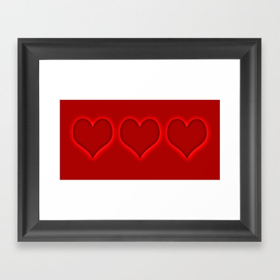 Love hearts 2 Framed Art Print