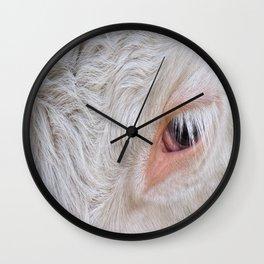Cow's Eye Lash Wall Clock