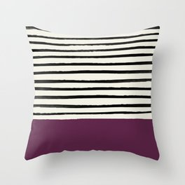 Plum x Stripes Throw Pillow
