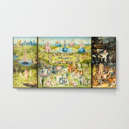 The Garden of Earthly Delights by Bosch Metal Print