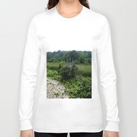 cape cod Long Sleeve T-shirts featuring Cape Cod Bramble by JezRebelle