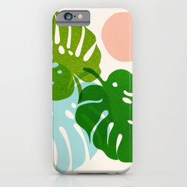 Abstraction_FLORAL_NATURE_Minimalism_001 iPhone Case