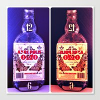 alcohol Canvas Prints featuring Alcohol Time by grkboy88