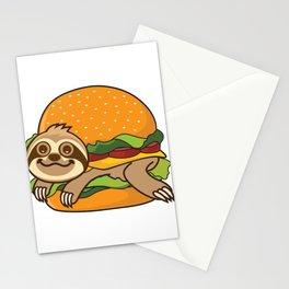 Sloth Burger Stationery Cards