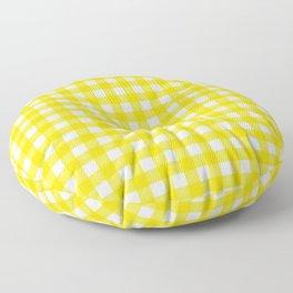 Vichy Karo Gelb Home Dekor Floor Pillow