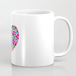 Multicolor Heart mosaic Coffee Mug