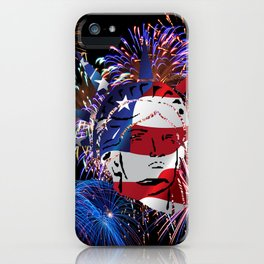 Abstract, Liberty, Flag (OS17006) iPhone Case