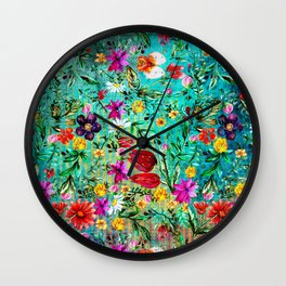 Old Chintz Wall Clock