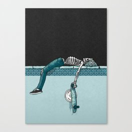 Skate 'til Late Canvas Print