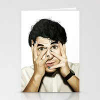 darren criss Stationery Cards featuring Darren Criss by weepingwillow
