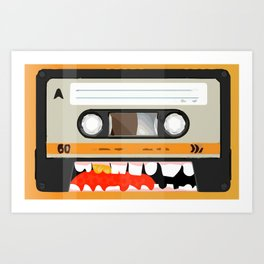 The cassette tape golden tooth Art Print