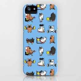 Leg Day with French Bulldog iPhone Case