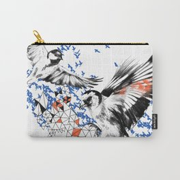 One Fell Swoop, Blue & Orange Carry-All Pouch