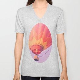 Summer Hot Air Balloon Unisex V-Neck