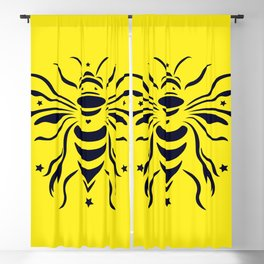 Save the bumblebee by #Bizzartino Blackout Curtain