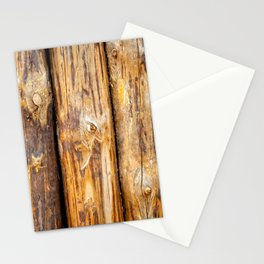 Wooden Log Fence Or Palisade Stationery Cards