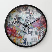 propaganda Wall Clocks featuring WHATEVER (PROPAGANDA) by Brandon Neher