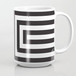 Black Greek Stripes Coffee Mug