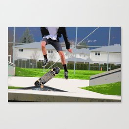 Missed Opportunity  - Skateboarder Canvas Print