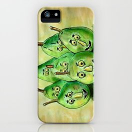 the pear-parade iPhone Case
