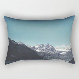 turquoise mountain lake Rectangular Pillow