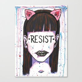 "Words Within: ""Resist"" Canvas Print"