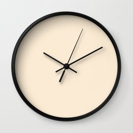 Classical Guitar ~ Creamy Yellow Coordinating Solid Wall Clock