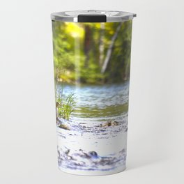 By The Lake - summer scene Travel Mug