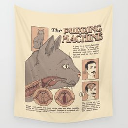 The Purring Machine Wall Tapestry