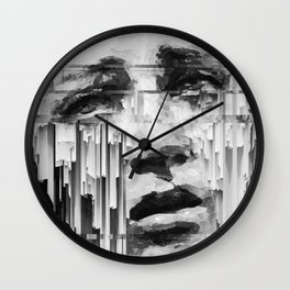Falling Down by IRRELEVANT VISION™ Wall Clock