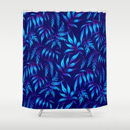 Brooklyn Forest - Blue Shower Curtain