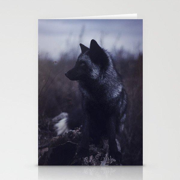 Dark Fox Stationery Cards