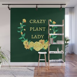Crazy Plant Lady II Wall Mural