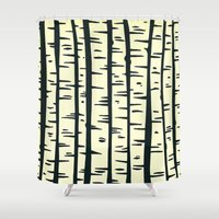 - summer : the night of the trees - Shower Curtain