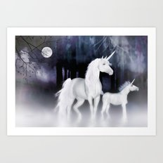 FANTASY - Unicorns Art Print