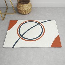 Modern Abstract Circles Rug