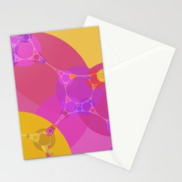 colbie - intense red fuchsia pink yellow purple abstract design Stationery Cards