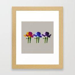 colorful iris screen print design Framed Art Print