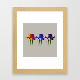 colorful iris screen print design Framed Art Print